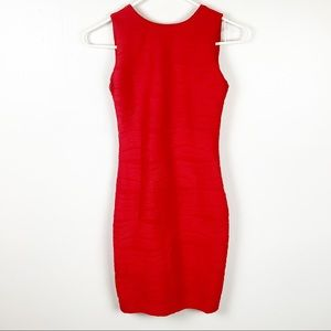 B. Darlin Red Bodycon Textured Dress Size 1/2
